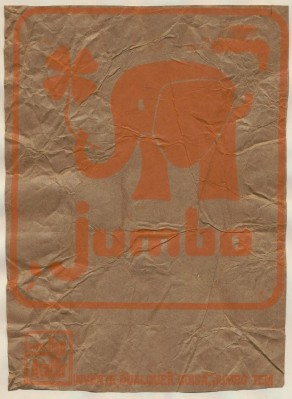 3 Circus Peanut Bags Picturing Jumbo The Elephant