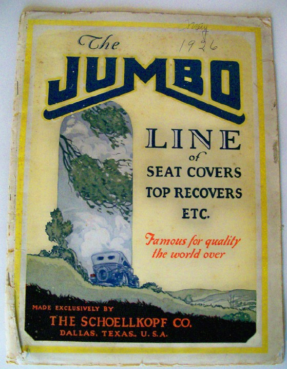 1926 Auto Seat Cover Side/Back Curtain Tire Cover ++ Catalog