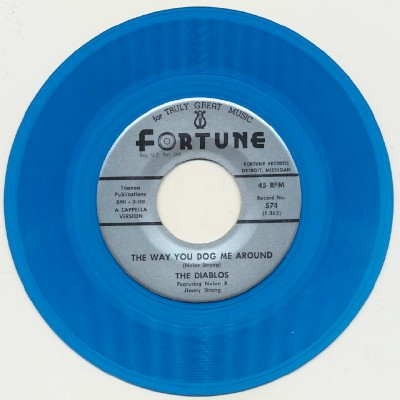 Jump With Me + Way You Dog Me Around - Diablos - Blue Wax