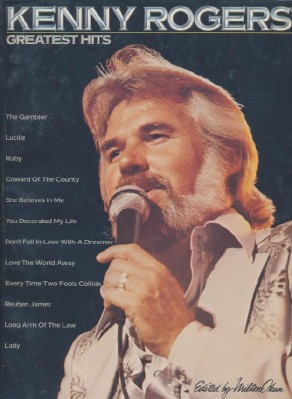 Kenny Rogers Greatest Hits Guitar Piano Sheet Music Song Book