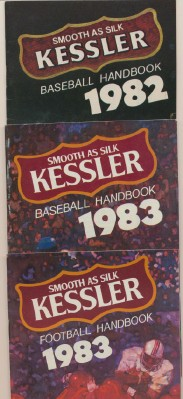 1980s Baseball & Football Handbooks - Kessler Whiskey