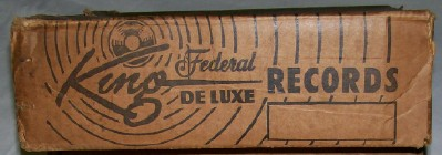 Vintage King Federal DeLuxe 78 RPM Record Store Inventory Box