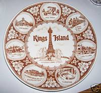 Kings Island Amusement Park Plate With Seven Rides