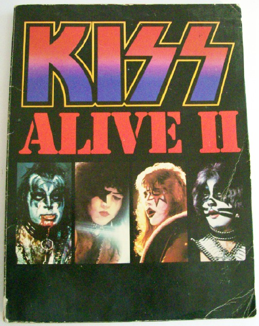 Vintage 1977 KISS Alive II Guitar Song Book With Great Photos