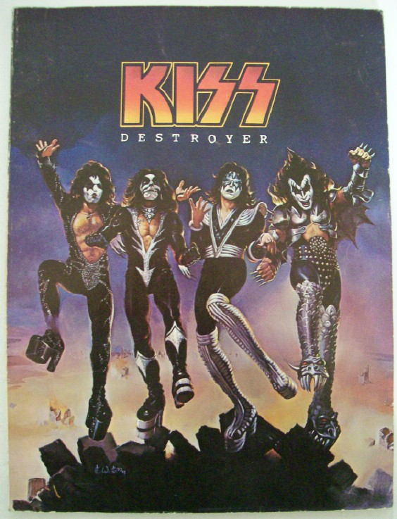 Vintage 1976 KISS Destroyer Guitar Song Book