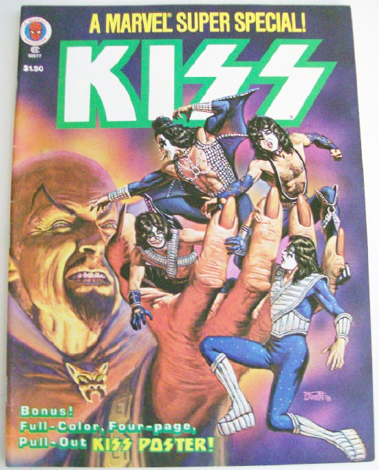1978 Marvel Comics KISS Super Special With 4-Page KISS Poster