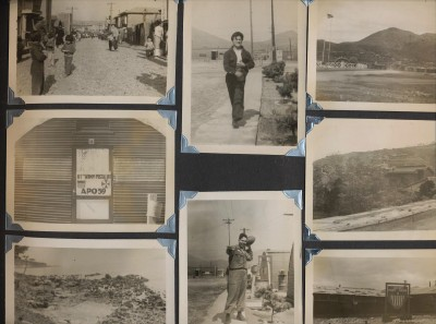 Vintage Korean War Soldier's Photo Album - 85 Photos