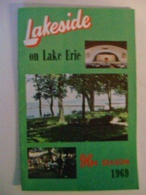 1969 Lakeside On Lake Erie Schedule Book - Marblehead OH