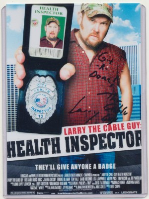 Autographed Photo Of Larry The Cable Guy As The Health Inspector