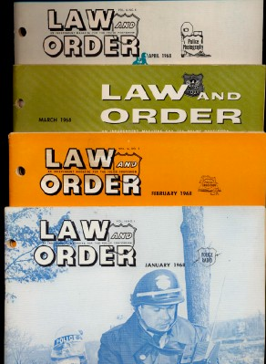 1960s Professional Police Law & Order Magazine Lot