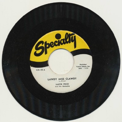 Lawdy Miss Clawdy + Mailman Blues - Lloyd Price
