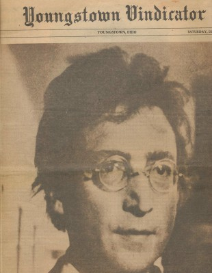 1980 John Lennon Assassination Supplement--Youngstown Vindicator