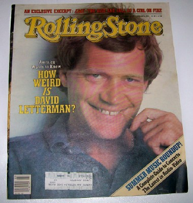 1982 Rolling Stone Magazine - David Letterman Cover Feature