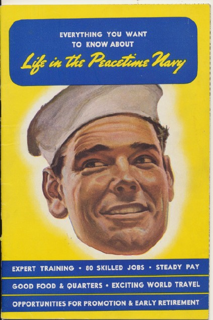 1945 Post-WWII Peacetime Navy Recruitment Book