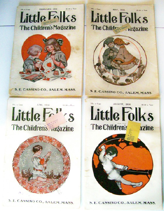 1916 Little Folks Children's Magazine Lot With Paper Dolls