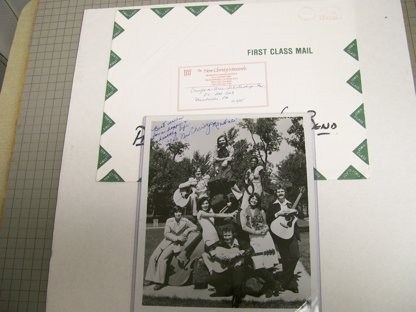 THE NEW CRHISTY MINSTRELS SIGNED by 8 PHOTO