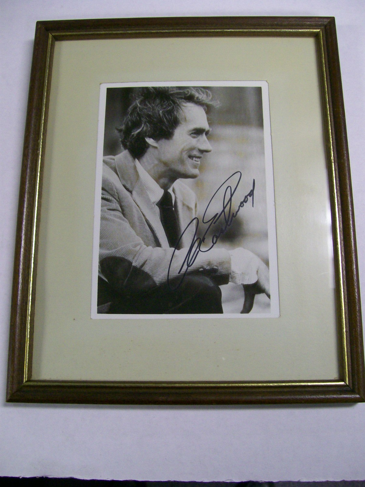Clint Eastwood Framed Autographed Photo Dated 1988 on back