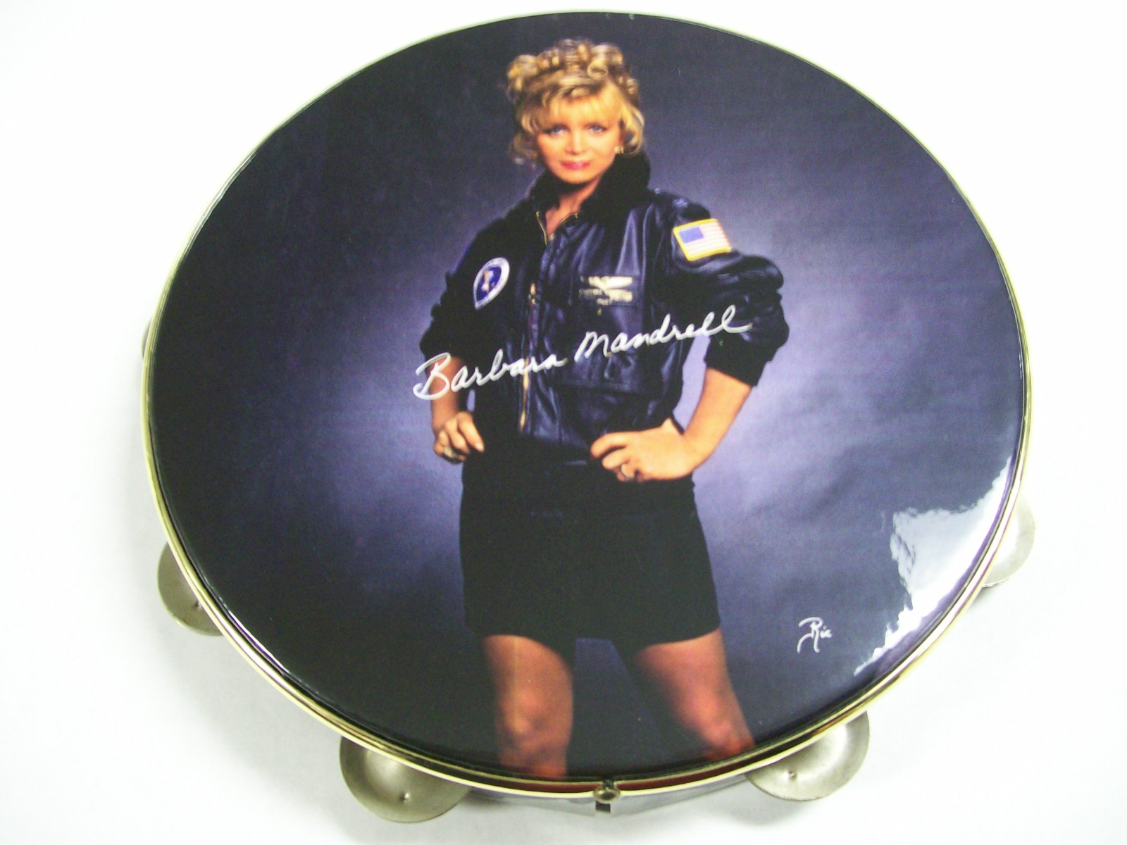 "Barbara Mandrell Show ""Tour Of Duty""Tambourine/Autographed"