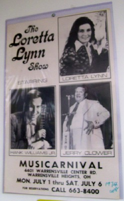 1974 Loretta Lynn Appearance Poster Autographed By Gabe Tucker