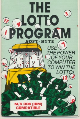 1984 Win The Lotto With Your Computer Disc/Instruc By Soft-Byte