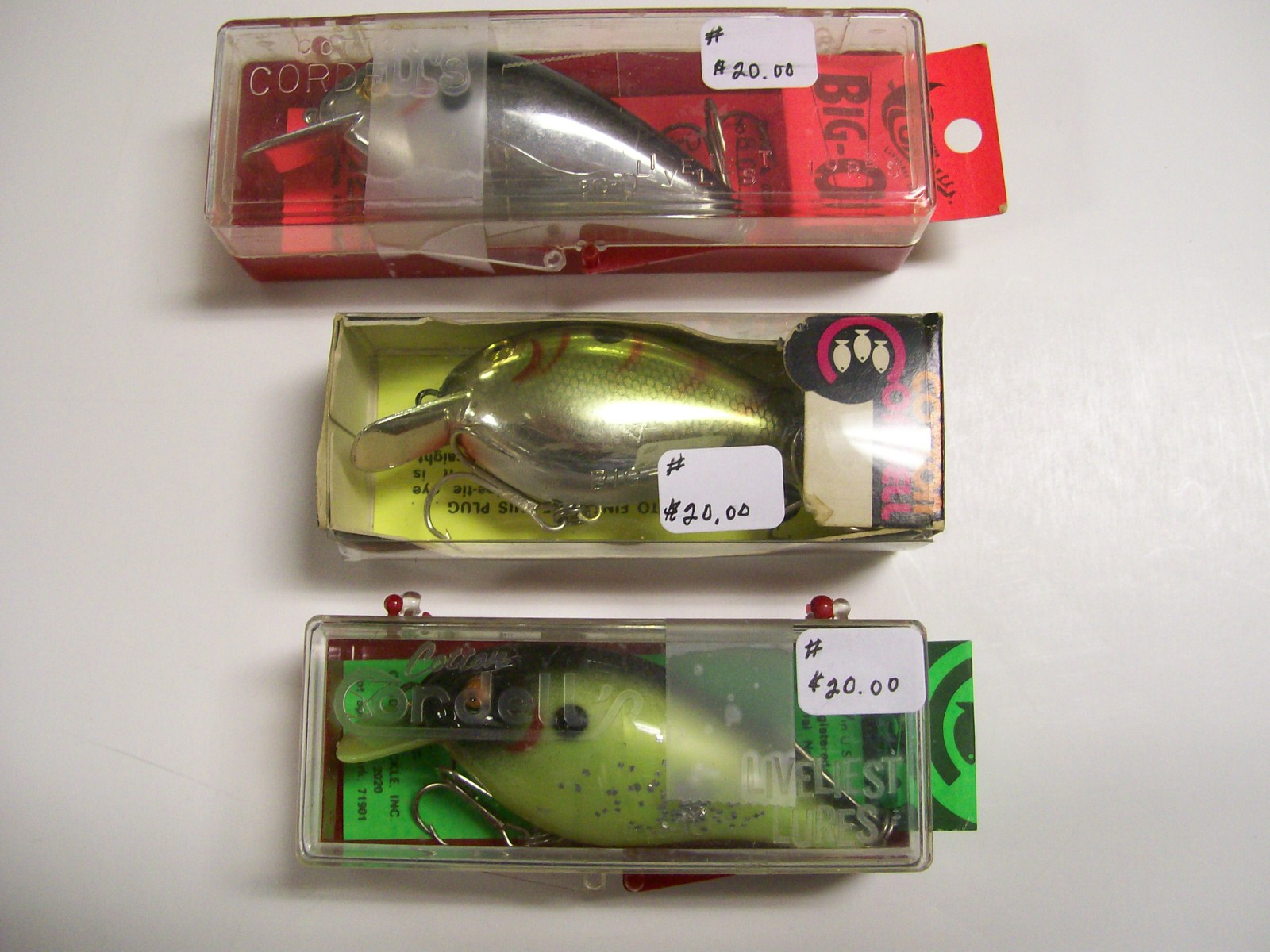 Cotton Cordell Big O Perch & Silver Fishing Lures/Mint in Boxes