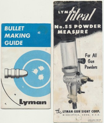 1958 Lyman Powder Measure Brochure & Bullet Making Guide