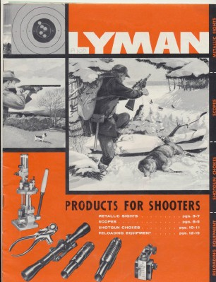 1959 Lyman Dealer Trade Catalog Sights Scopes Reloading Chokes
