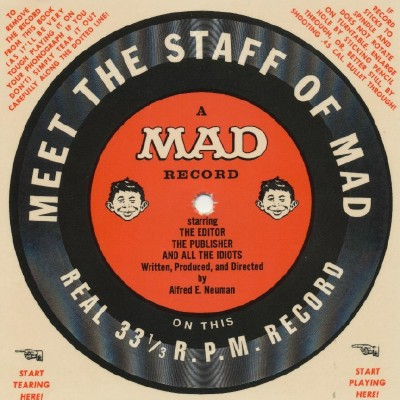 Vintage MAD Magazine Flexi-Disc - Meet The Staff Of MAD