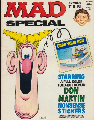 MAD Magazine Special #10 With Don Martin Nonsense Stickers