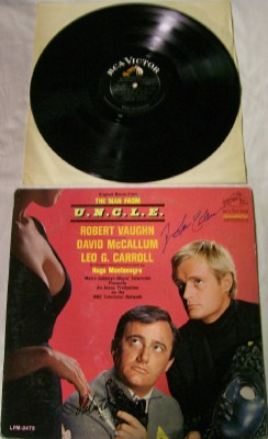 Man From U.N.C.L.E. LP Autographed By Vaughn & McCallum