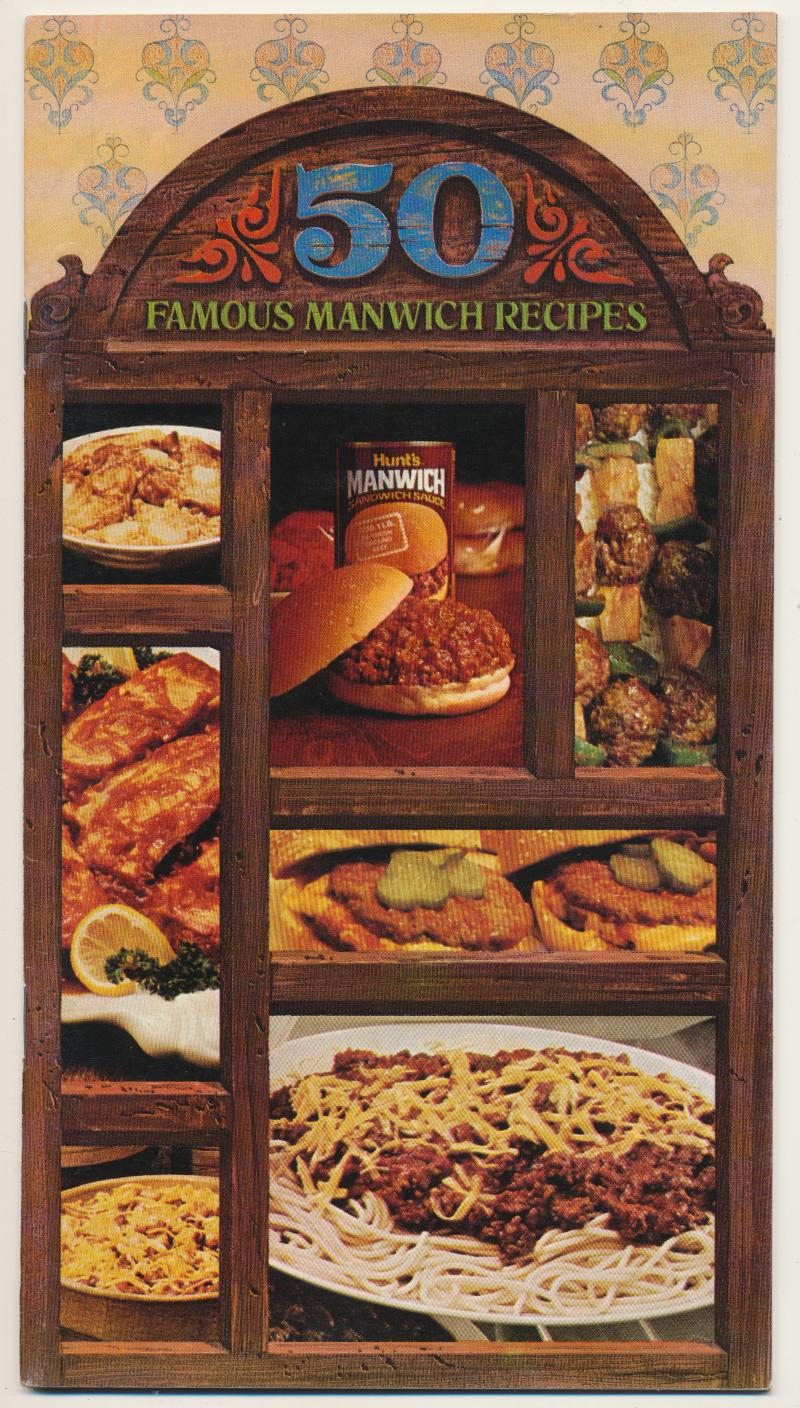 1974 Hunt's Manwich Advertising Recipe Cookbook