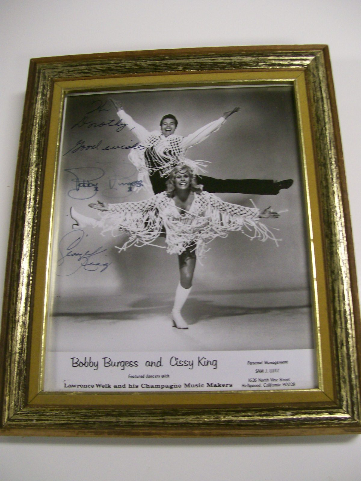 "Bobby Burgess & Cissy King Autographed 8"" X 10"" Photo"