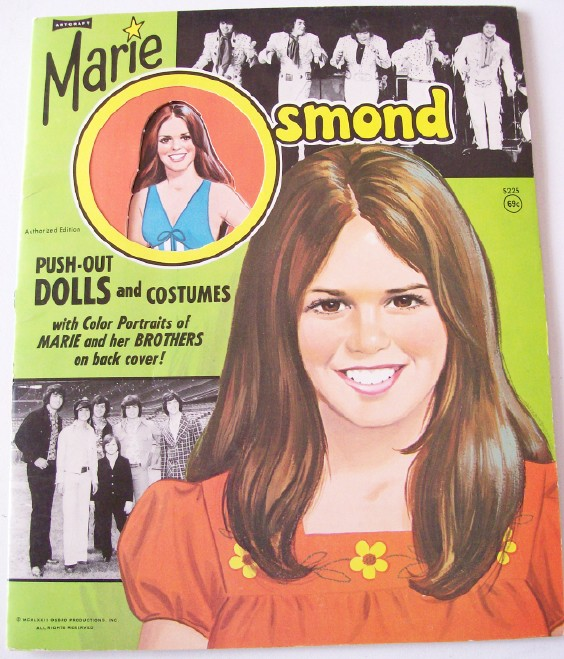 Vintage 1973 Marie Osmond Paper Doll Book - Most Uncut