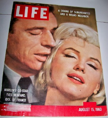 1960 Marilyn Monroe & Yves Montand Cover Life Magazine