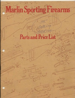 1975 Marlin Firearms Gun Parts & Price List - Exploded Diagrams