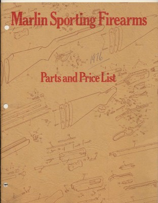 1976 Marlin Firearms Gun Parts & Price List - Exploded Diagrams