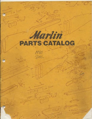 1980 Marlin Firearms Gun Parts Catalog With Exploded Diagrams