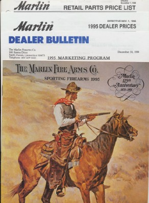 1995 Marlin Sporting Firearms Gun Catalog + Dealer Extras