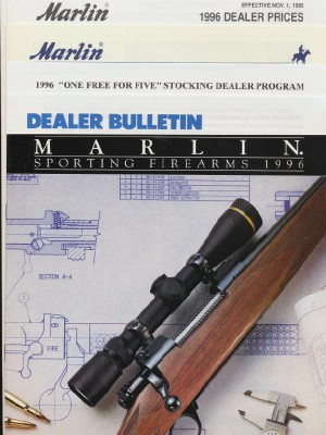 1996 Marlin Sporting Firearms Gun Catalog + Dealer Extras