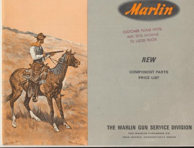 1966 Marlin Component Parts Price List With Exploded Diagrams