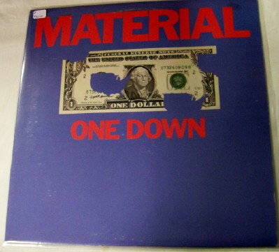 Material One Down LP - 1st Whitney Houston Lead Vocal Liner Note