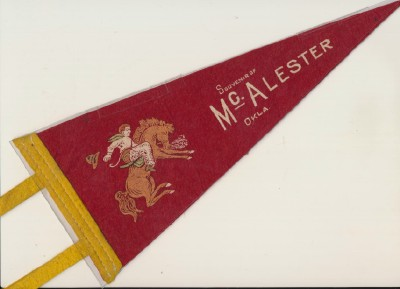 McAlester OK Souvenir Pennant - Prison Rodeo?