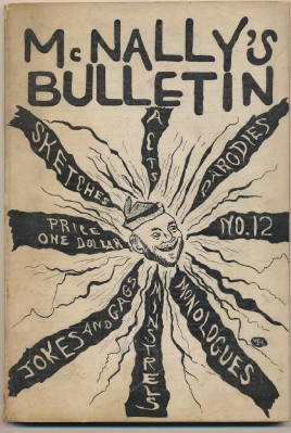 1926 McNally's Bulletin Vaudeville Burlesque Minstrel Shows +