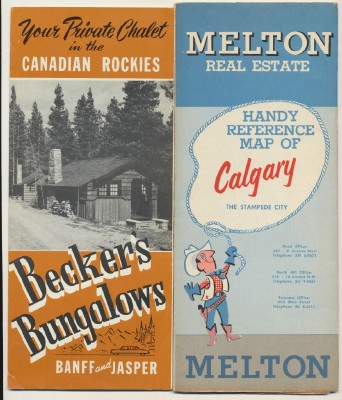 1950s Canadian Rockies Calgary & Melton Canada Travel Lit