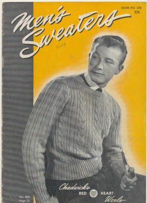 1947 Knitting Pattern Book - Men's Sweaters & Accessories