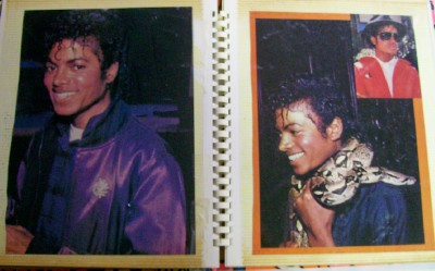 Vintage 1984 Michael Jackson Scrapbook - #1 Of 3