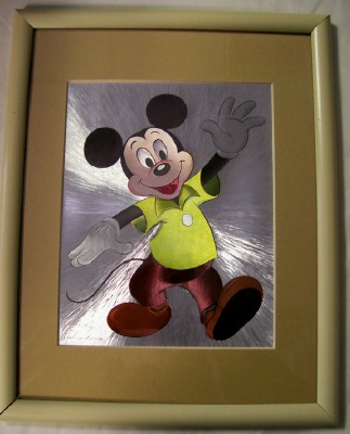 Framed Walt Disney Mickey Mouse Production Animation Cel