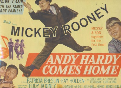 Vintage 1948 Mickey Rooney Andy Hardy Lobby Card