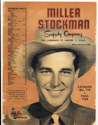 Vintage 1958 Miller Stockman Western Cowboy Supply Catalog