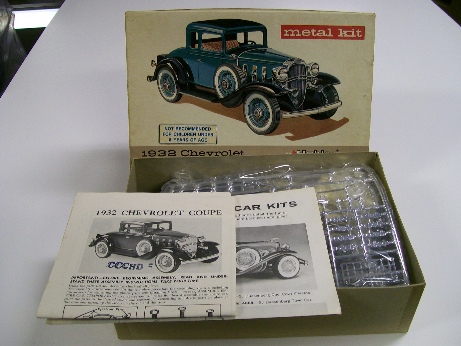 HUBLEY MODEL METAL KIT 1932 CHEVROLET COUPE #4869 MIB